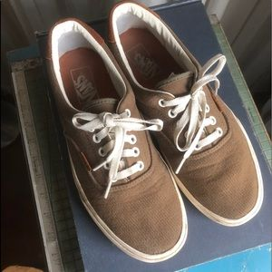 SOLD! DP Vans Olive Canvas Skate Shoes